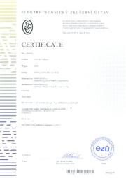 Certificate EZÚ
