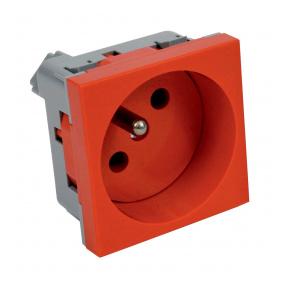 QP 45X45 BB - zásuvkový modul QUADRO s ochraným kolíkem