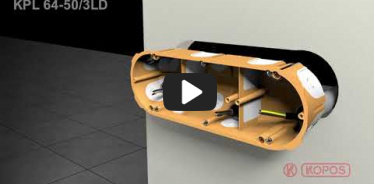 Embedded thumbnail for Szerelési útmutató a KPL 64-50/3LD üreges falhoz használható kötődobozhoz
