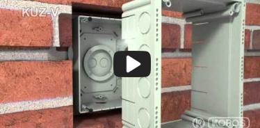 Embedded thumbnail for Szerelési utasítások KUZ-V univerzális fedeles dobozhoz