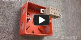Embedded thumbnail for Szerelési utasítások funkcióit tűz esetén is megtartó KSK 100 PO dobozhoz