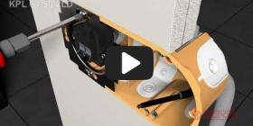 Embedded thumbnail for Szerelési útmutató a KPL 64-50/2LD üreges falhoz használható kötődobozhoz