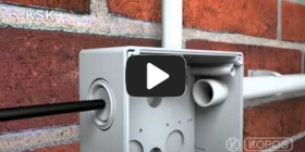 Embedded thumbnail for Szerelési utasítások IP 66 védelemmel ellátott KSK villanyszerelési dobozhoz